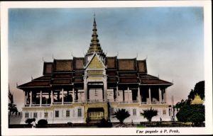 Ak Pnom Penh Kambodscha, une pagode