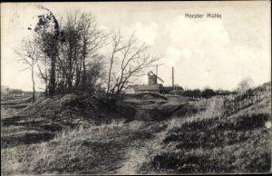 Ak Elmshorn in Schleswig Holstein, Horster Mühle, Windmühle