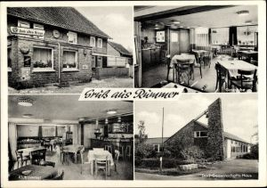 Ak Rümmer Groß Twülpstedt Helmstedt in Niedersachsen, Gasthof zum alten Kruge, Dorfgemeinschaftshaus