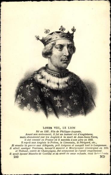 Künstler Ak Louis VIII, Le Lion, König von Frankreich, Portrait