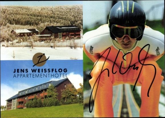 Ak Jens Weissflog Appartementhotel in Oberwiesenthal, Skispringer