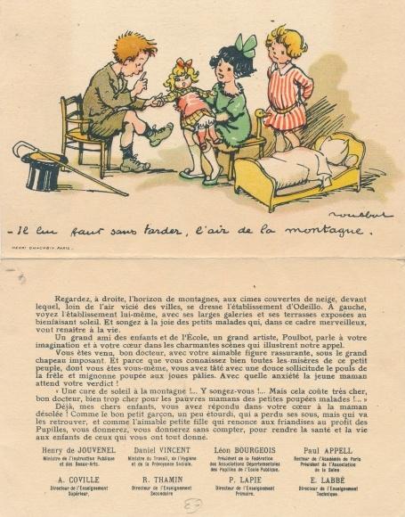 Klapp Künstler Ak Poulbot, Francisque, Pupilles de l'Ecole Publique, Kinder, Puppe