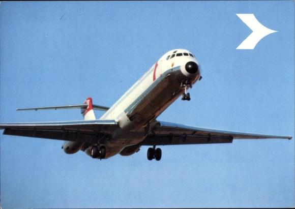 Ak Douglas DC 9 Super 80, Austrian Airlines, Passagierflugzeug