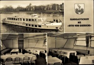 Ak Fahrgastschiff MS Otto von Guericke, MVB Abt. Weiße Flotte Magdeburg