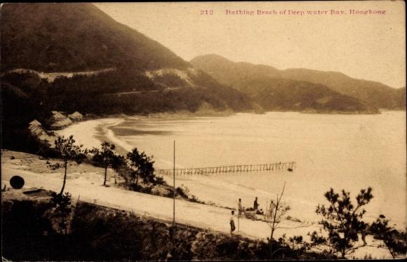 Ak Hongkong China, Bathing Beach of Deep Water Bay