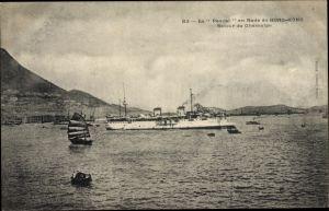 Ak Hongkong China, Le Pascal en Rade, Retour de Chémulpo