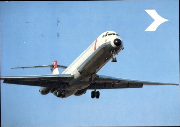 Ak Passagierflugzeug Austrian Airlines, Douglas DC 9, Super 80