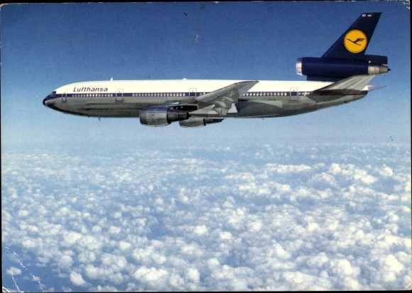 Ak Passagierflugzeug der Lufthansa, McDonnell Douglas DC 10