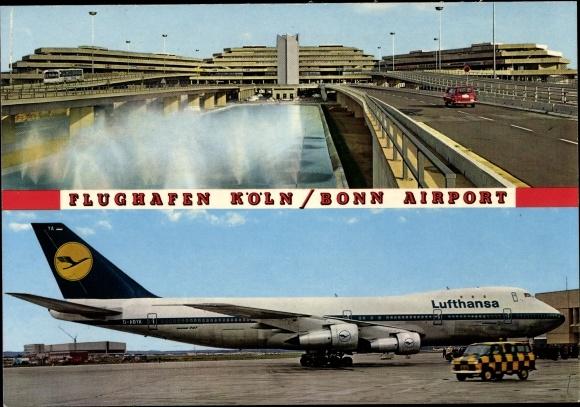 Ak Flughafen Köln Bonn, Passagierflugzeug der Lufthansa, D ABYA