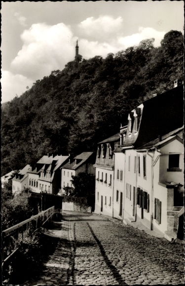 Ak Trier in Rheinland Pfalz, Römerstraße mit Mariensäule