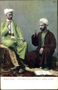 Ak Betende Araber, Des arabes, faisaint leur prière