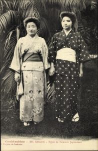 Ak Saigon Cochinchine Vietnam, types de femmes japonaises