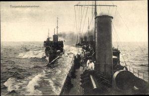 Ak Deutsche Kriegsschiffe, Torpedobootsmanöver