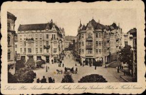Ak Lwów Lemberg Ukraine, Akademieplatz u. Fredrogasse