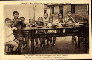 Ak Tche Li Sud Est China, Mission, The orphan girls menu
