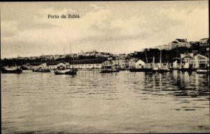 Ak Bahia Brasilien, Porto, Blick zum Hafen