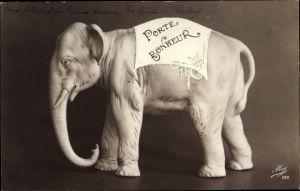 Ak Porte Bonheur, Elefant, Glücksbringer