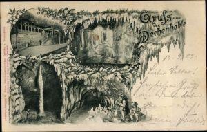 Ak Iserlohn im Märkischen Kreis, Gruß aus der Dechenhöhle
