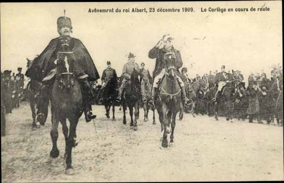 Ak Avenement du roi Albert 1909, König Albert I. von Belgien, Thronbesteigung