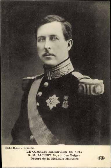 Ak König Albert von Belgien, Portrait in Uniform, Roi Albert de Belgique
