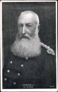 Ak Léopold II, roi des Belges, König Leopold II. von Belgien