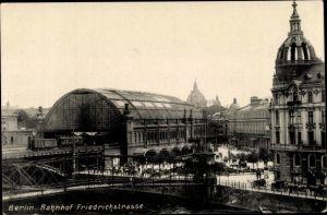 Ak Berlin, Bahnhof Friedrichstraße