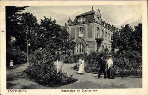 Ak Essen im Ruhrgebiet, Rosenplatz im Stadtgarten