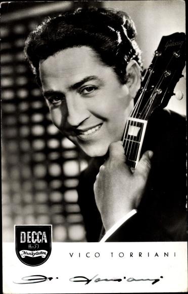 Ak Sänger und Schauspieler Vico Torriani, Portrait, Decca Schallplatten