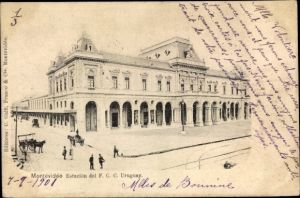 Ak Montevideo Uruguay, Estacion del F. C. C.
