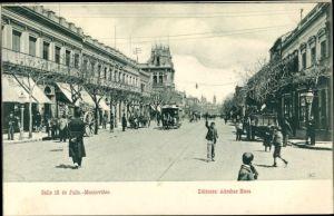 Ak Montevideo Uruguay, Calle 18 de Julio