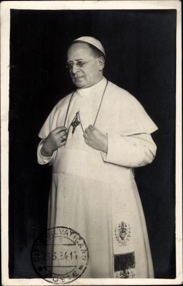 Foto Ak Papst Pius XI., Achille Ambrogio Damiano Ratti, Portrait