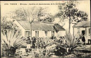Ak Tonkin Vietnam, Moncay Jardins et dependances de la residence