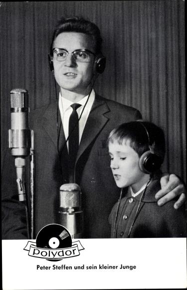 Ak Sänger Peter Steffen und sein kleiner Junge, Polydor Schallplatten