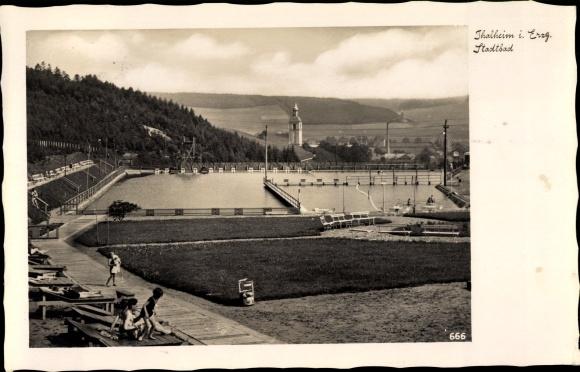 Ak Thalheim Erzgebirge, Stadtbad