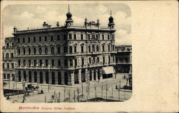 Ak Montevideo Uruguay, Palacio Heber Jackson