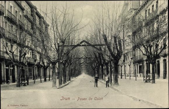 Ak Irún Irun Baskenland Spanien, Paseo de Colon, Straßenpartie