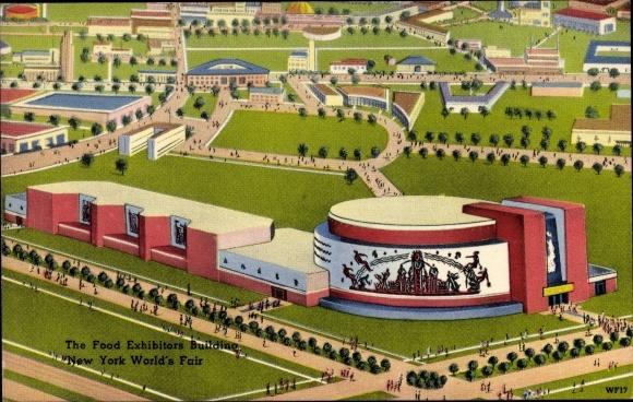 Ak New York City USA, World's Fair 1939, Food Exhibitors Building