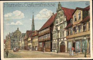 Künstler Ak Hameln in Niedersachsen, Osterstraße