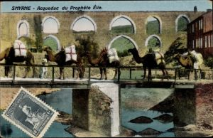 Ak Smyrna Izmir Türkei, Acqueduc du Prophete Elie, chameaux