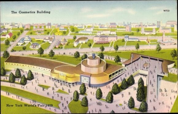 Ak New York City USA, World's Fair 1939, Cosmetics Building