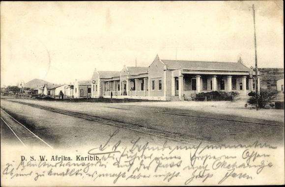 Ak Karibib Erongo Namibia, Straße, Missionsgebäude