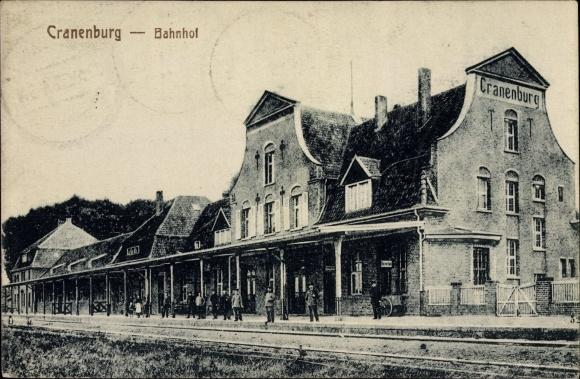Ak Kranenburg Niederrhein, Blick auf den Bahnhof, Gleisseite