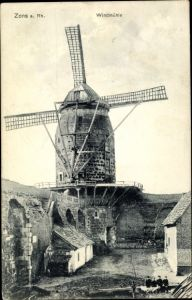 Ak Zons Dormagen Niederrhein, Ansicht von der Windmühle