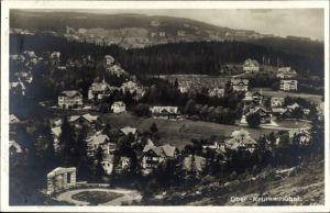 Ak Karpacz Krummhübel Riesengebirge Schlesien, Totalansicht vom Ort