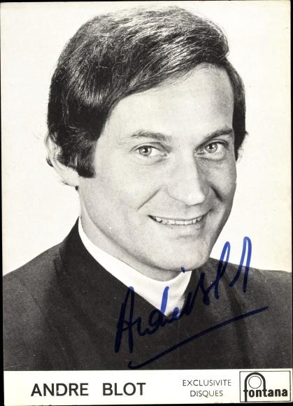 Ak Sänger Andre Blot, Portrait, Fontana Schallplatten