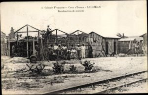 Ak Abidjan Elfenbeinküste, Construction de maisons