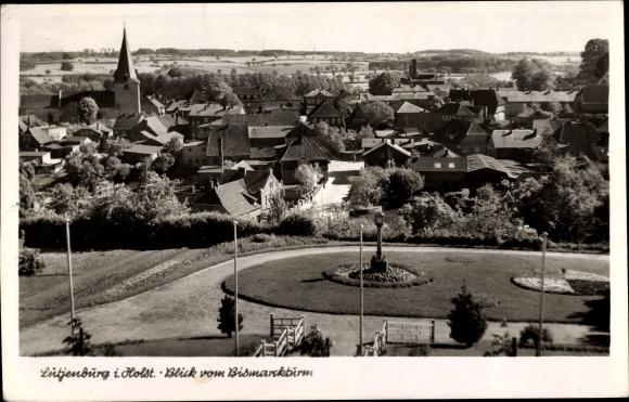 Ak Lütjenburg in Schleswig Holstein, Blick vom Bismarckturm auf den Ort