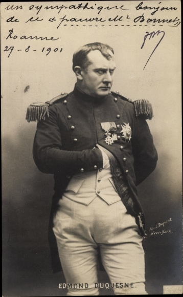 Ak Schauspieler Edmond Duquesne, Portrait als Napoleon