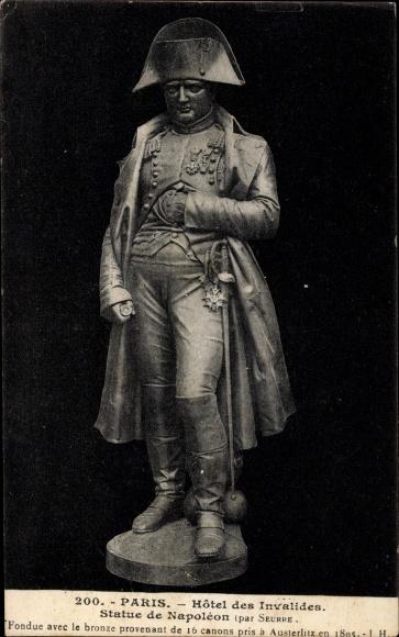 Ak Paris Frankreich, Hotel des Invalides, Statue, Napoleon Bonaparte