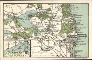 Landkarten Ak Dänemark, Ordrup, St. Andreas Kollegium, Lyngby, Gjentofte, Fure Sö, Oresund